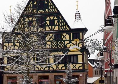Schnee auch in Roth