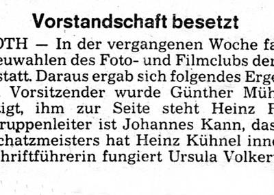 VHS Vorstand Zeitung Wahl